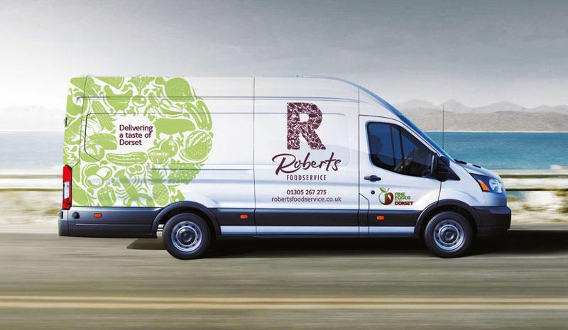 Roberts Foodservice Delivery Van