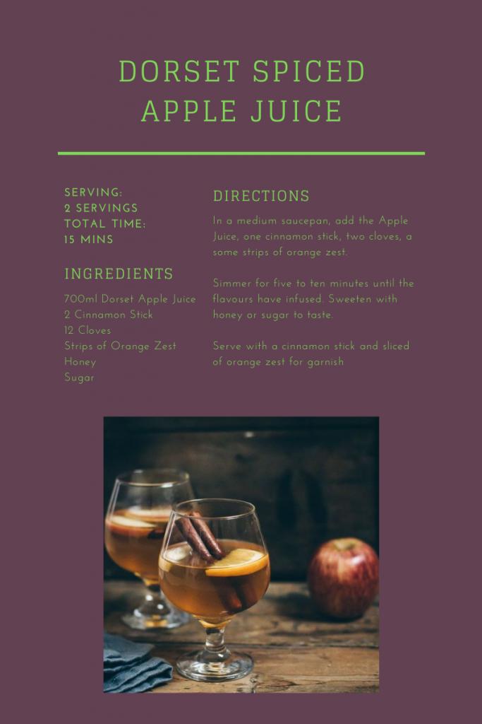 Recipe Card Dorset Spiced Apple Juice